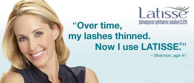 Get longer thicker eye lashes from Latisse & Dr. Franklin Rose