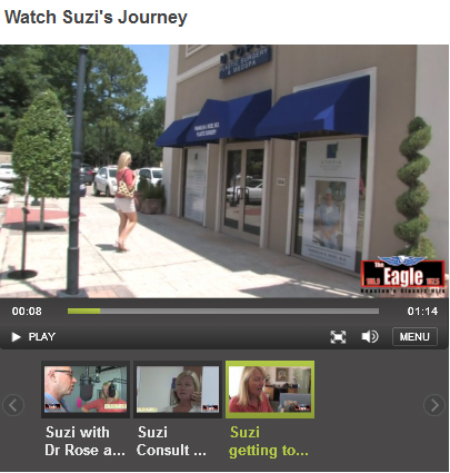 Watch Suzi's videos before & after surgery with Dr. Franklin Rose
