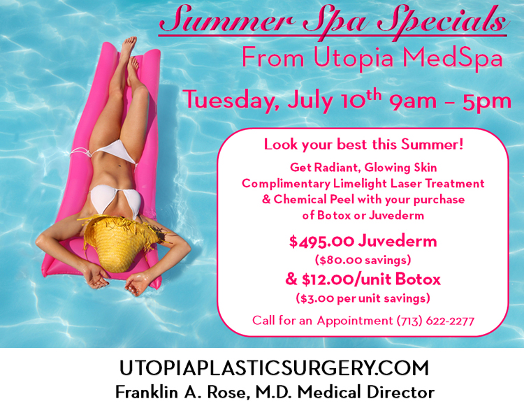 Summer Spa Specials From Dr Franklin Rose Amp Utopia