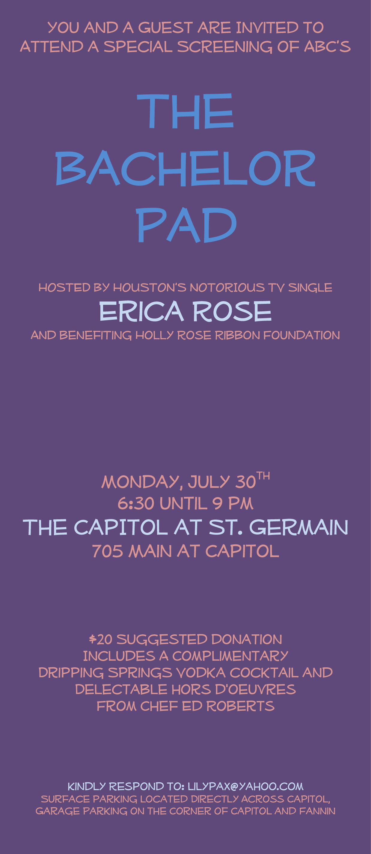 Bachelor Pad Erica Rose Invite 2012