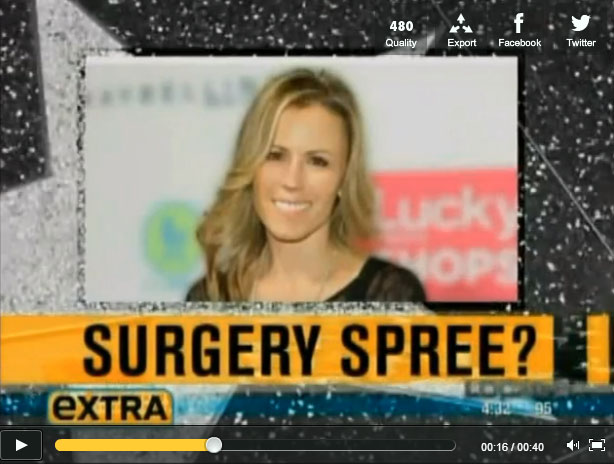 Review Trista's appearance on EXTRA!