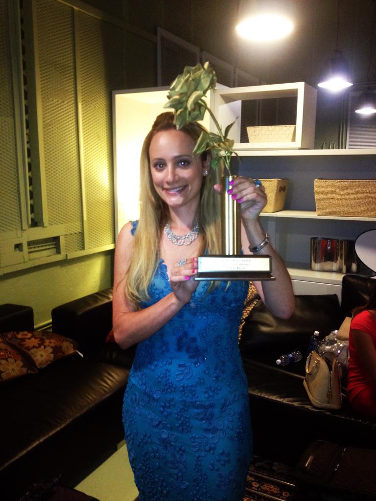 Erica Rose receives the Golden Rose award