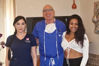 Liscenced Aesthetician Natalie Petrou, Dr. Rose, and Chef Natasha