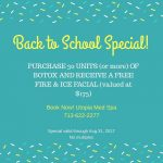 Summer Spa Specials – FREE Fire & Ice Facial with purchase of BOTOX
