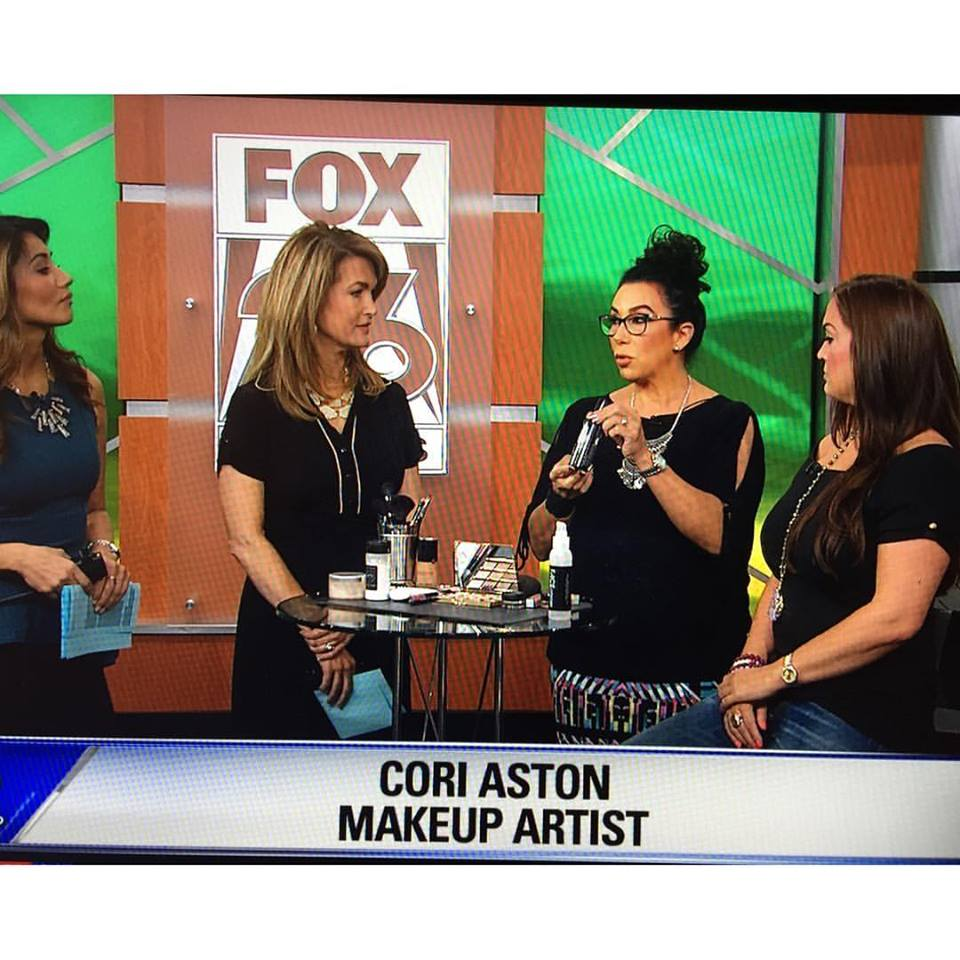 Cori Aston talks tips on how to beat the Houston heat with sweat-proof makeup on Fox 26 with Melissa Wilson, and Rita Garcia