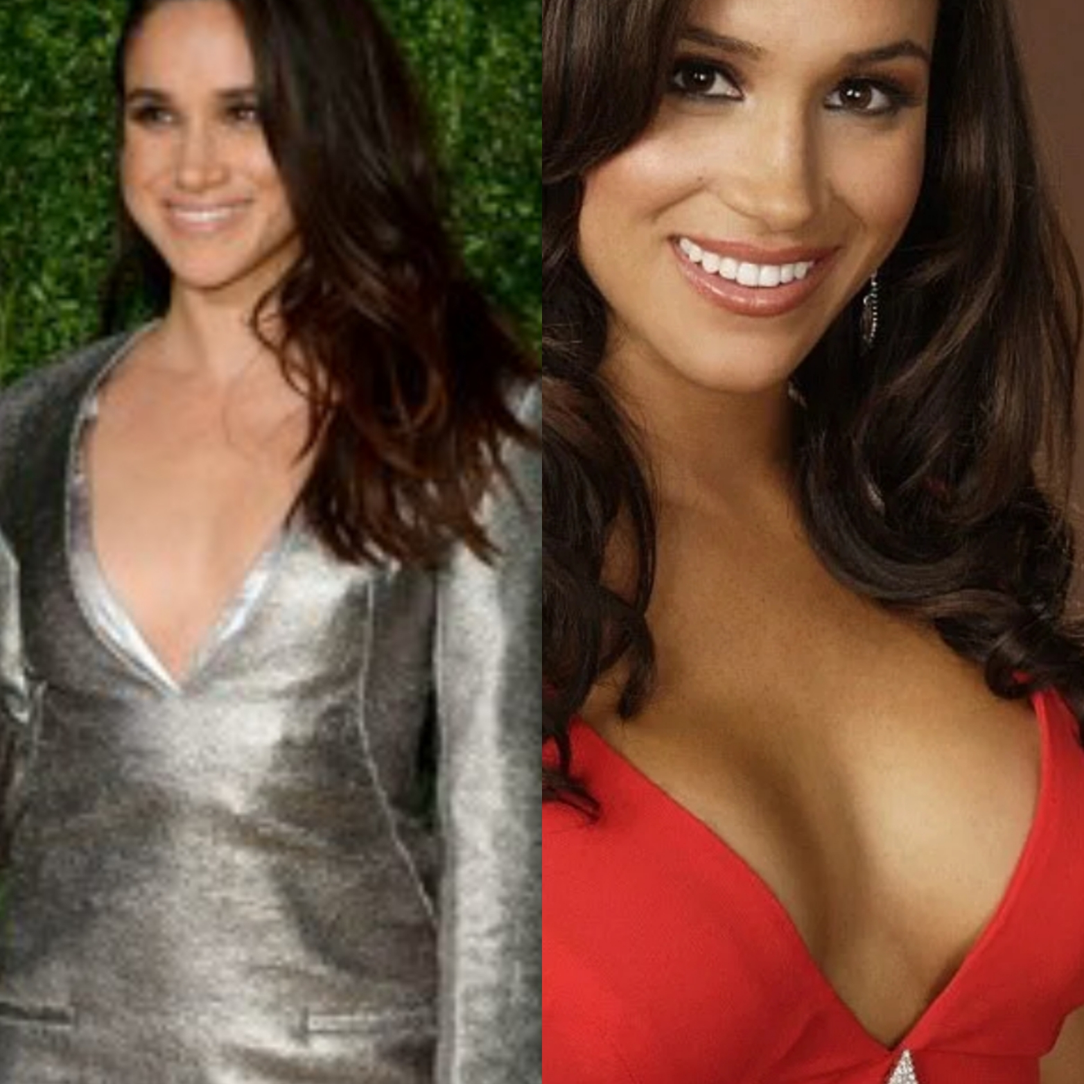 Meghan Markle before and after breast augmentation