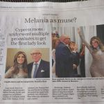 Melania as a Muse?  As featured in Sunday's Houston Chronicle
