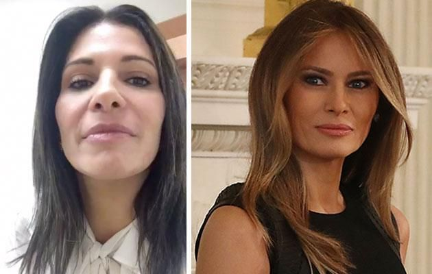 Claudia (left) wants to look more like Melania Trump. Photo: Facebook/Getty