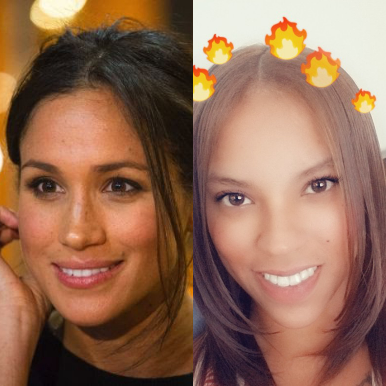 Photo of Meghan Markle (left,) and Dr. Rose's patient