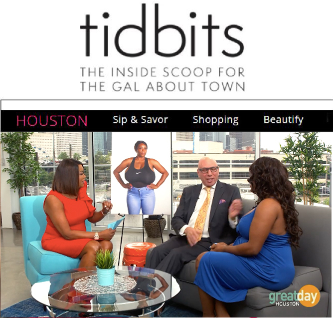 """Thank you to Tidbits for featuring Kisha's dramatic BIG REVEAL following her triple JJJ breast reduction surgery on Great Day Houston with Dr. Franklin Rose & Deborah Duncan in today's """"BEAUTIFY - THIS IS AMAZING"""" Details: http://gotidbits.com/houston/deborah-duncan-hosts-big-reveal"""